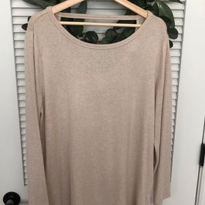 LOFT light sweater with scoop back detail; size XL
